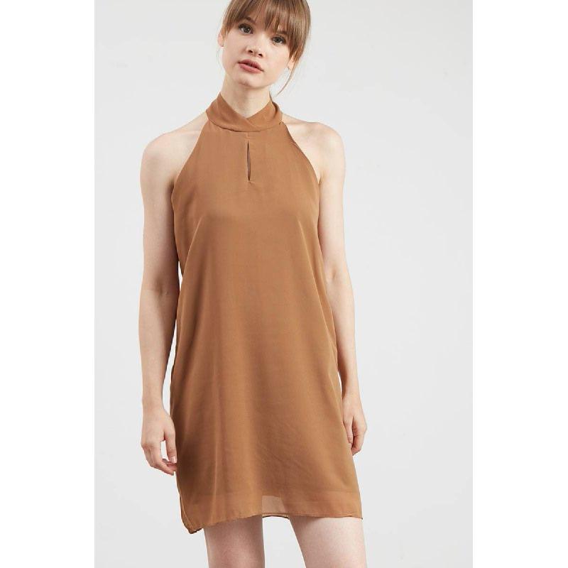Gwen Hachen Dress in Brown