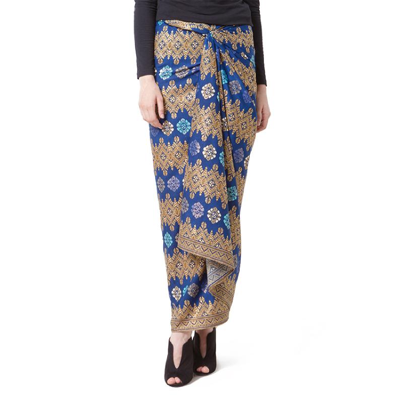 Raden Sirait Skirt Serut Saiqa Blue