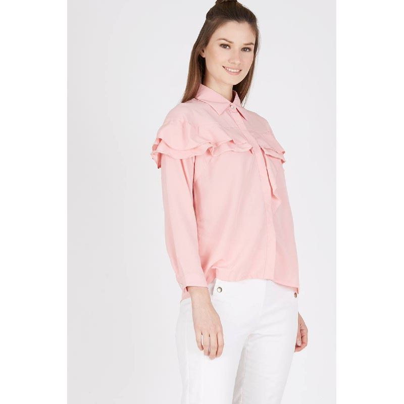 Jiwy Top In Dusty Pink