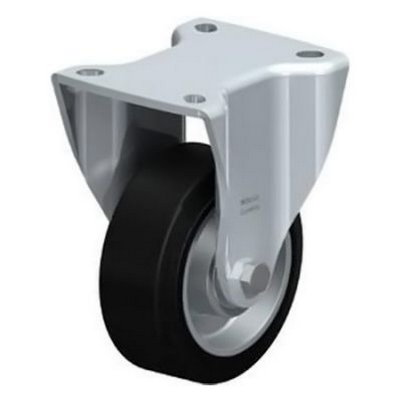 BH-ALEV 100K-1 Wheel with Elastic Solid Rubber Tyre Fixed Castors BH-ALEV 125K-1