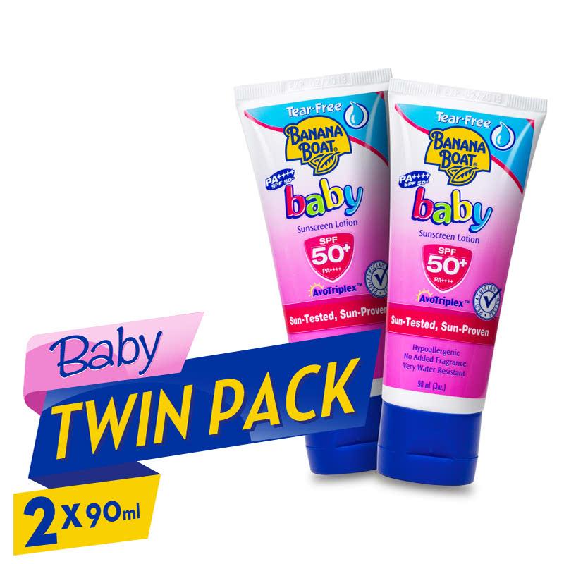 Banana Boat Baby Tear Free Sunscreen Lotion SPF50 90ml 2pcs