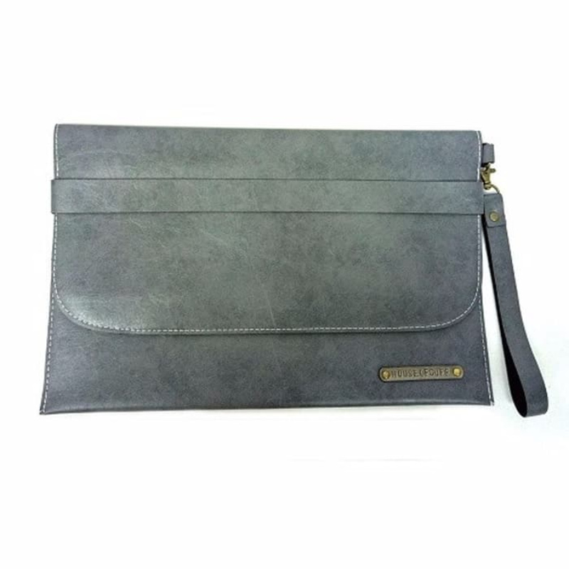House Of Cuff Clutch Pria Tas Tangan Unisex Medium Belt Grey Clutch