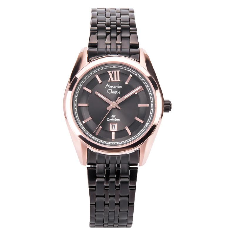 Alexandre Christie AC 8501 LD BBRBA Ladies Classic Black Dial Stainless Steel