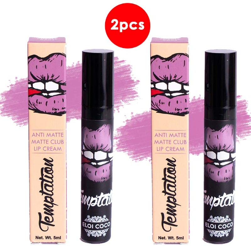 Temptation Anti Matte Matte Club Lip Cream Purple Rain 5ml (2pcs)