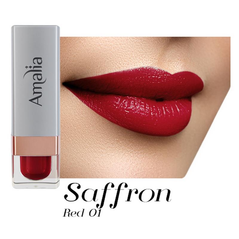 Amalia Satin Lipstick Saffron Red 01