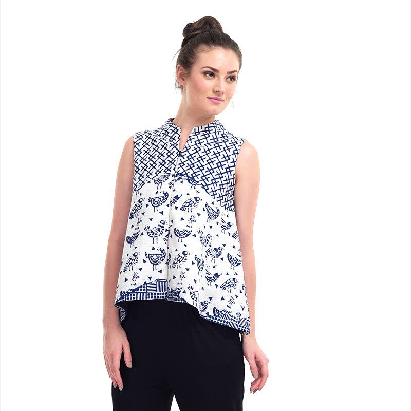 Batik Chic Blouse A Batik Combination
