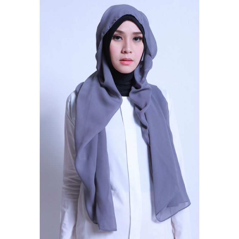 BIA by Zaskia Mecca Kerudung Ceruti Adya Slate Grey S3