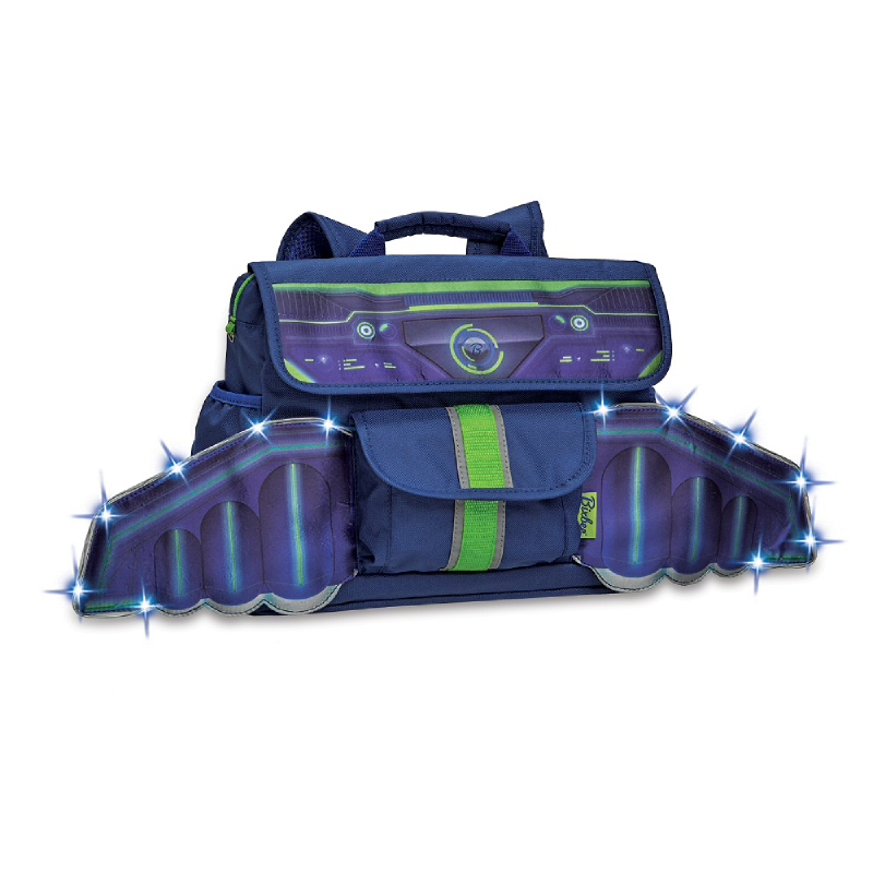 Bixbee LED Space Race Kids Backpack S