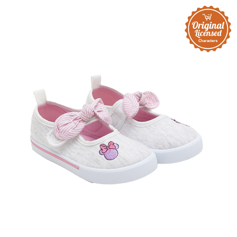 90 Years of Magic Disney Minnie Mouse Baby Girl Mary Jane Shoes Grey