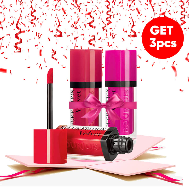 Bourjois Bundle Rouge Edition Velvet (Fuchsia + Pink Pong + Hot Pepper)