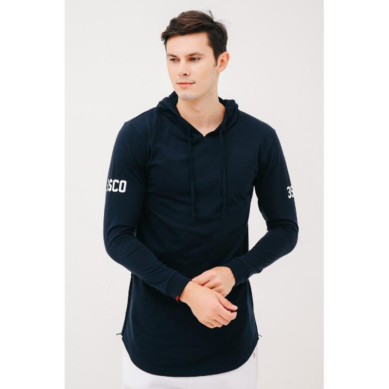 3Second Men Sweater Hoodie 7002.Black