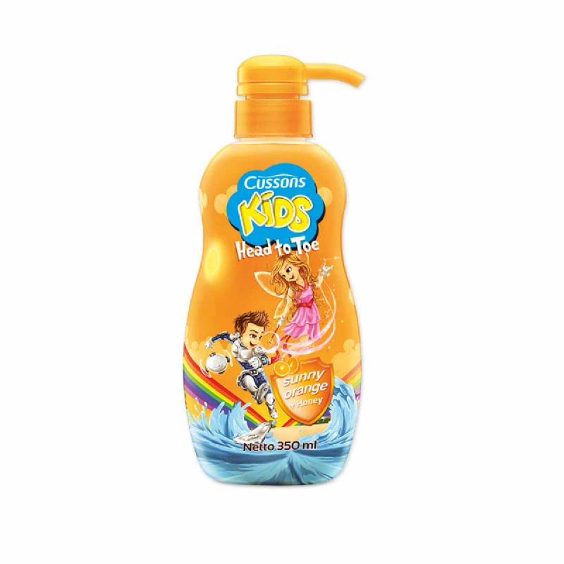 Cussons Kids Head To Toe Sunny Orange  + Honey 350 Ml
