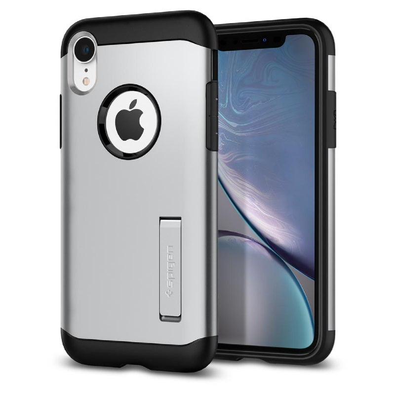 Spigen iPhone XR Case Slim Armor - Satin Silver