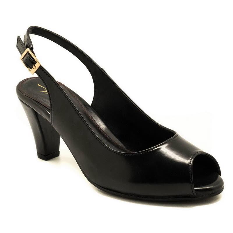 Apple Green Zenya Heels Black