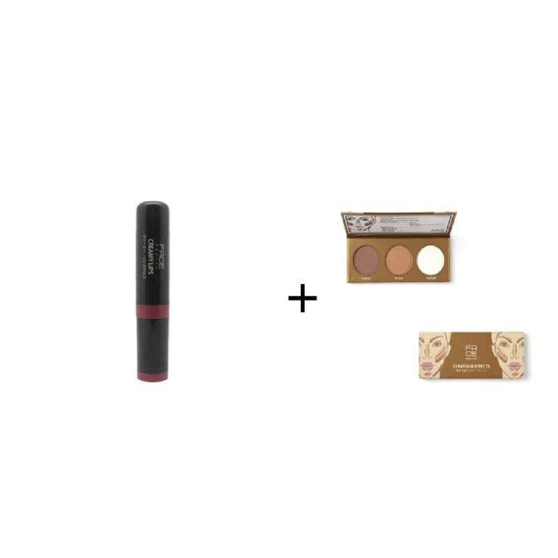 Face Recipe Creamy Lips Maroon Lip Gloss + Face Recipe Contour Effects