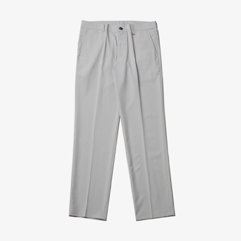 [BL1119]Cool Air-tension Slacks - Light Gray