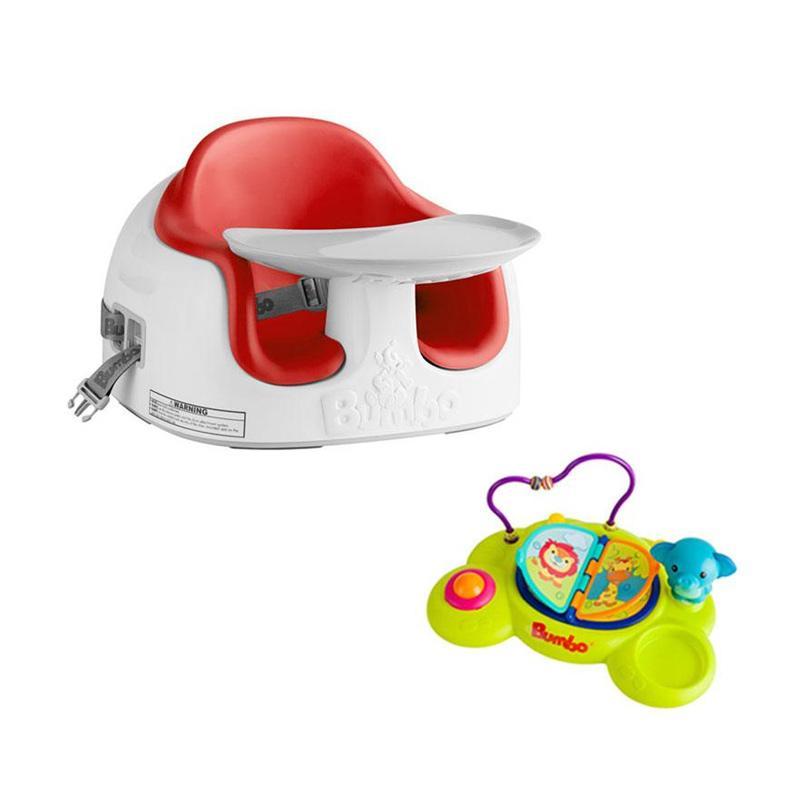 Bumbo Multi Seat dengan Playtop Safari - Red