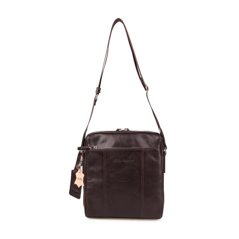 Phillipe Jourdan Messenger Bag Dallas Brown