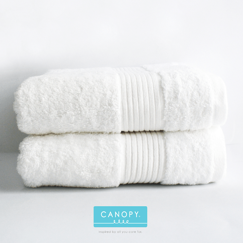 Canopy Jade - Bath Towels White (2 pcs)