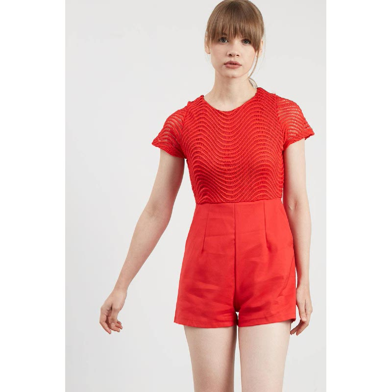 Gwen Kenneth Playsuit in Red