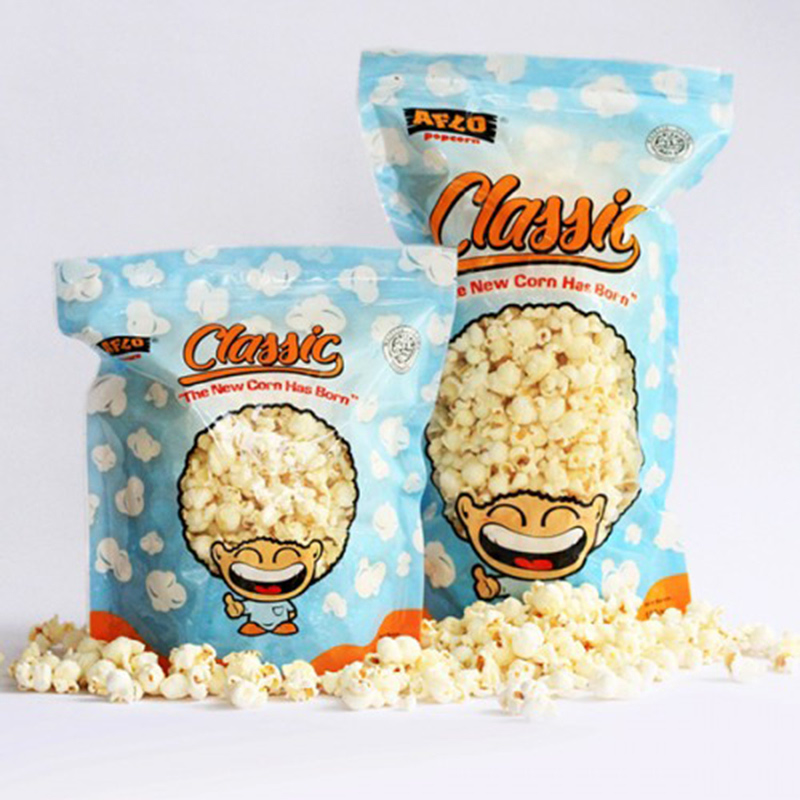 Alfo Popcorn - Aflo Classic Ayam Bakar 100 gr (isi 2 Pack)