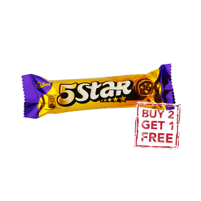 Cadbury 5 Star 45G (Buy 2 Get 1)