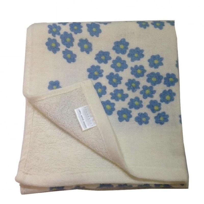 Yawaragi Gauze Flower Handuk Kecil - Biru