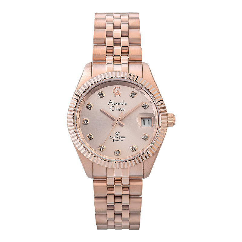 Alexandre Christie Classic Steel AC 5013 MD BRGLN Men Rose Gold Dial Rose Gold Stainless Steel