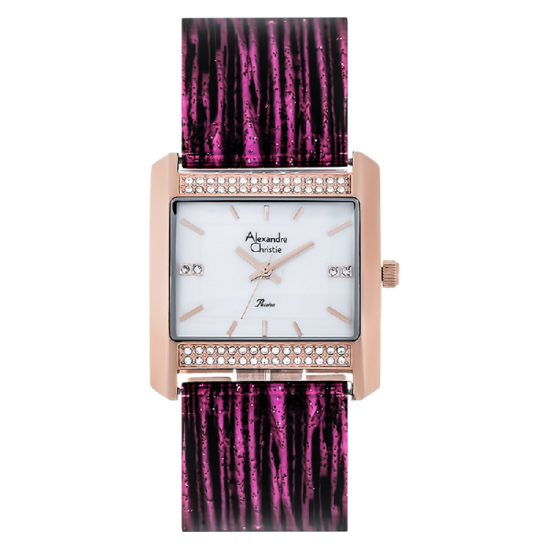 Alexandre Christie AC 2672 LH BRGMSPU Ladies Mother of Pearl Dial Stainless Steel With Ceramic Strap