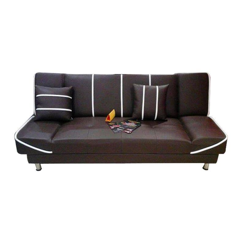 Anya Living Saigon Sofa Bed - Cokelat Garis Putih