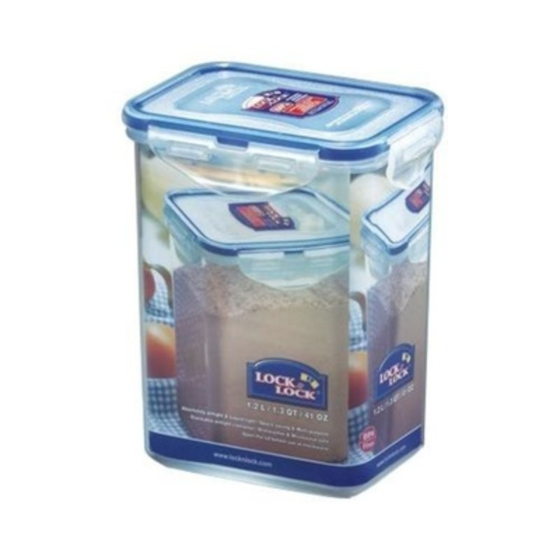 Lock & Lock HPl808H Rectangular Tall Food Container 1.2L
