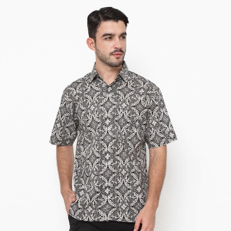 Cotton Print Remekan Suba Black Shirt