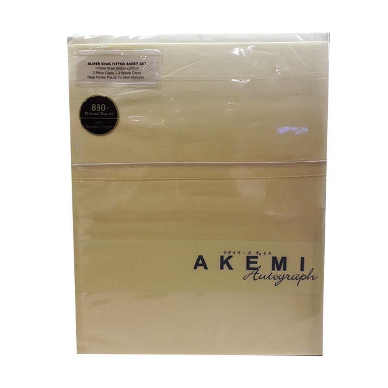 Akemi Autograph Leighton Collection SKFS 200X200 LETTIC STRIPES CREAMY YELLOW