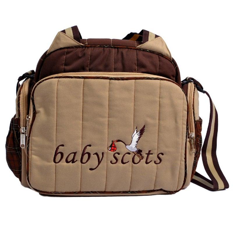 Baby Scots Tas Bordir Type 2 Embroidery Diaper Bag-2ISEDB016 Cokelat