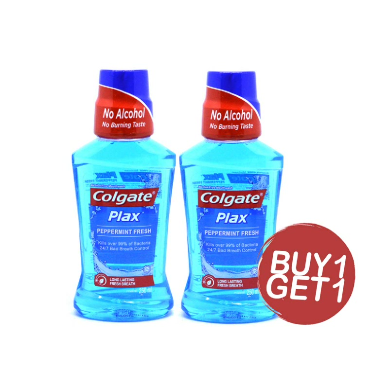 Colgate Plax Mouthwash Peppermint 250 Ml (Buy 1 Get 1)