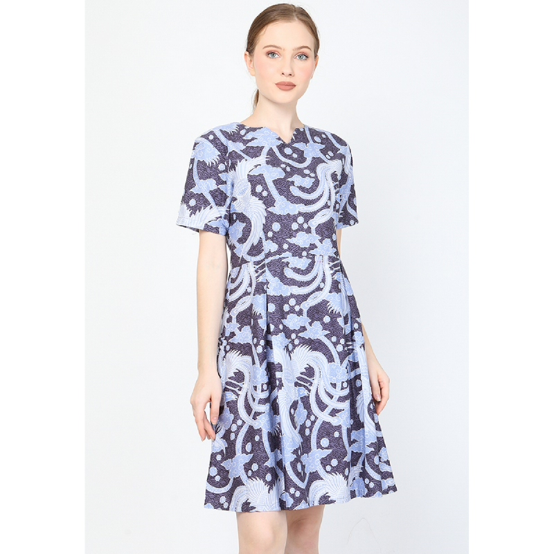 Aksa Batik Arsy Dress Blue