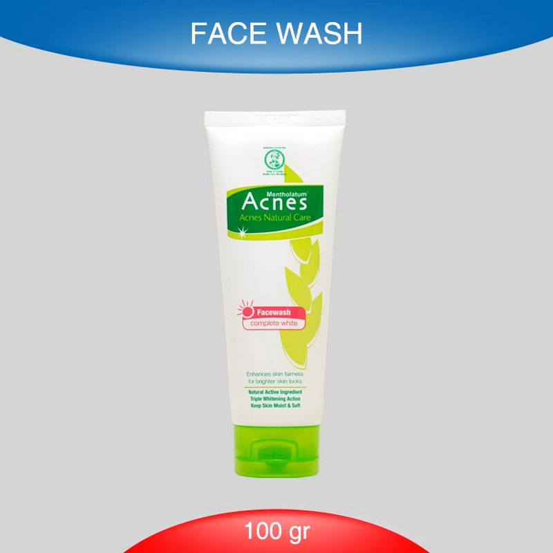Acnes Complete Whiteninge Facial Wash 100G