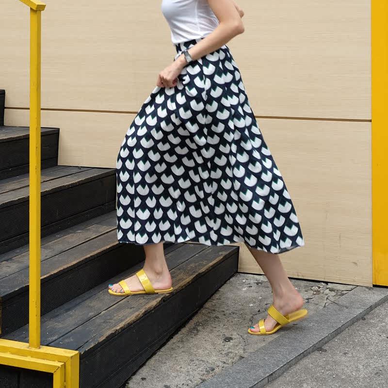 SAPPUN Penny Sue Daley Flip Flops (1cm) - Yellow Enamel