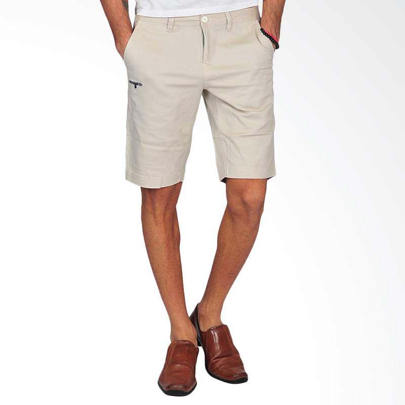 G Maxwell Mens Shorts Celana Pendek Pria - Cream
