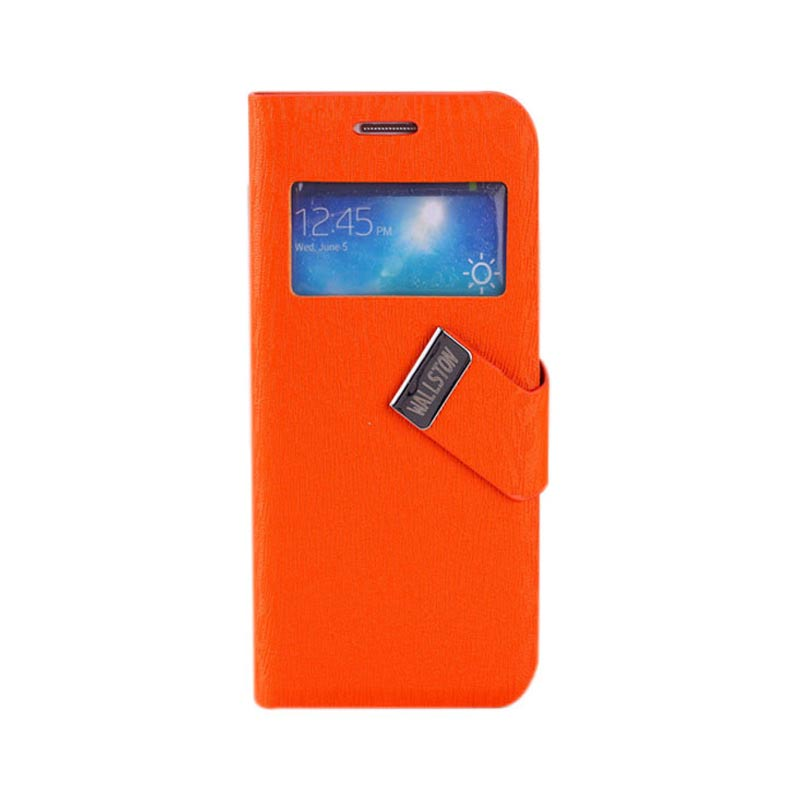 Skylight Leather Case For Samsung Galaxy S4 Mini Orange