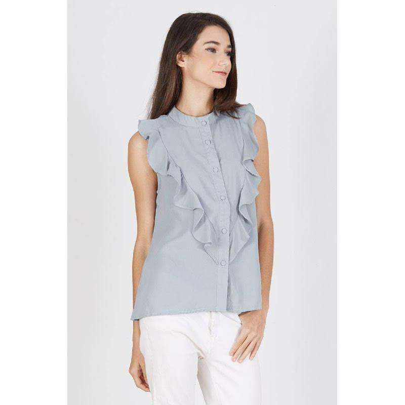 Palmira Frill Top Grey