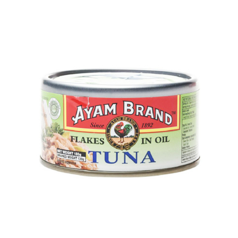 Ayam Brand Tuna Flakes In Oil 185 Gram