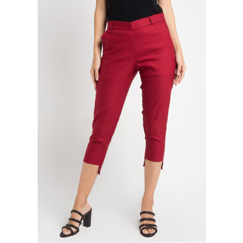 Magnificents Ladies Symetric Trousers Pants Maroon
