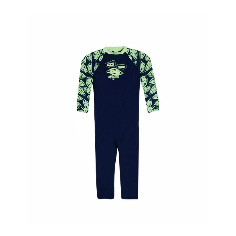 Speedo ESS Long Sleeves All In One Boys Swimwear Navy