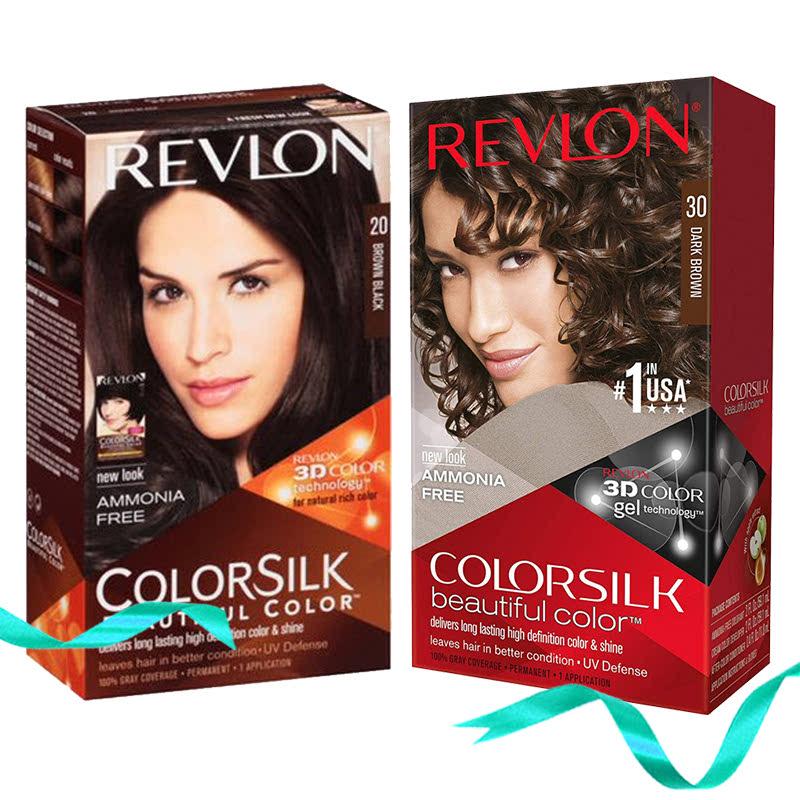 Revlon Colorsilk Hair Color 20 Brown Black + Revlon Colorsilk Hair Color 30 Dark Brown