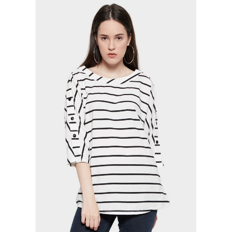 Simplicity Stripe Knit Top Ow