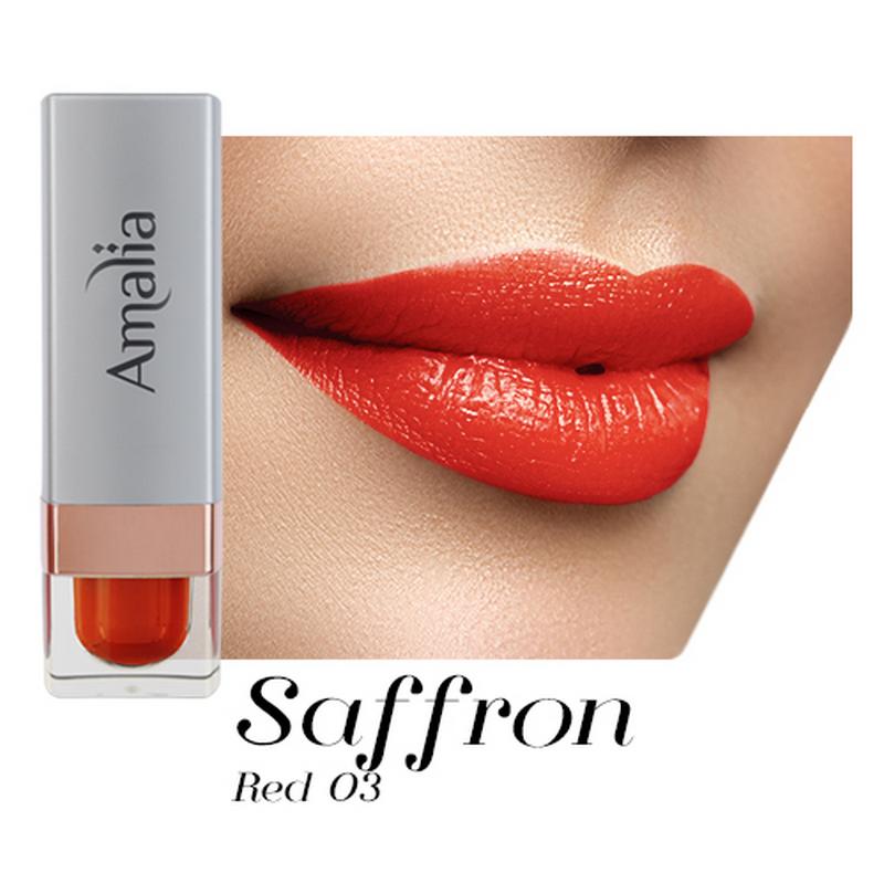 Amalia Satin Lipstick Saffron Red 03