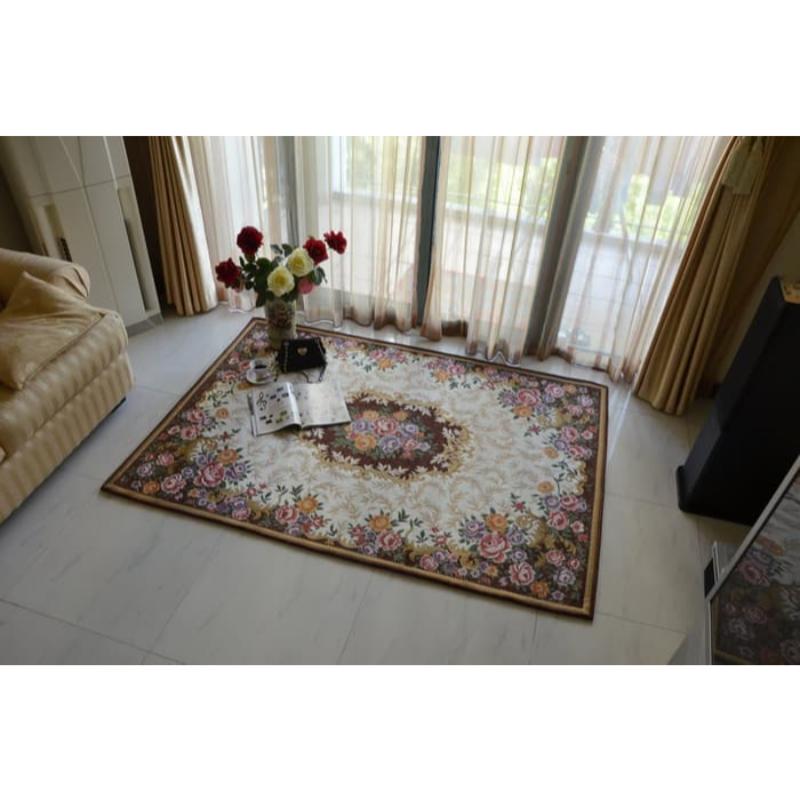 Karpet Aneta Classic Flower European 160x230 cm - Coffee