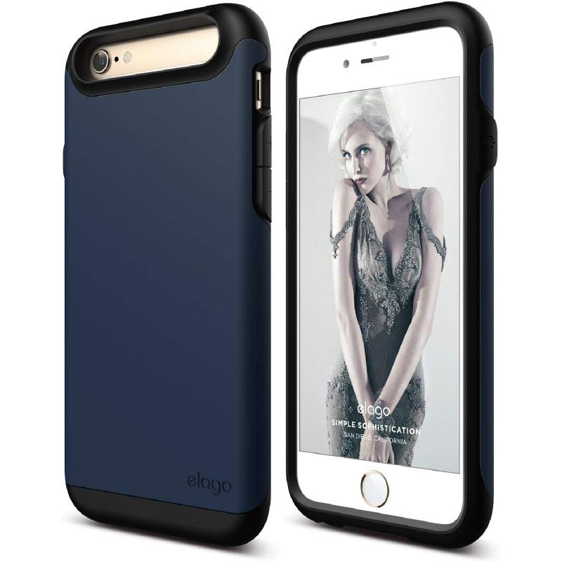 Elago Duro Black Case for iPhone 6, 6S - Matt Black + SF Jean Indigo