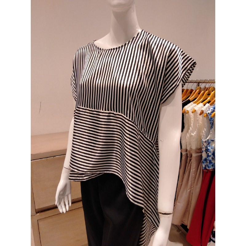 Basa Uma Blouse Stripes Black